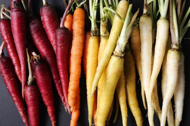 Kolorowe marchewki