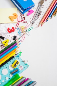 Kolorowe materiały biurowe