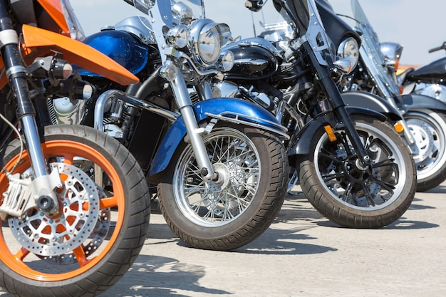 Kolorowe motocykle