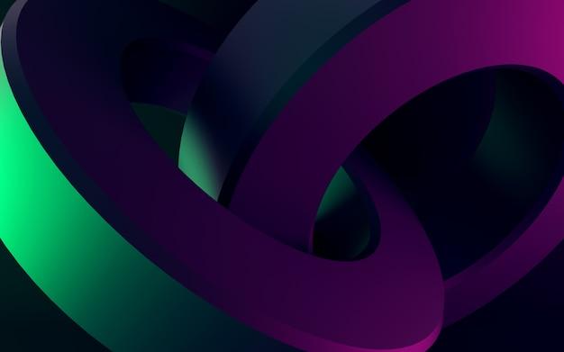 Kolorowe okrągłe kształty renderowania 3d