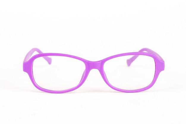 Kolorowe okulary dla dzieci na białym