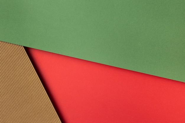 Kolorowe papiery z widokiem z góry