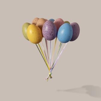 Kolorowe pęczek balonów pisanka na jasne.