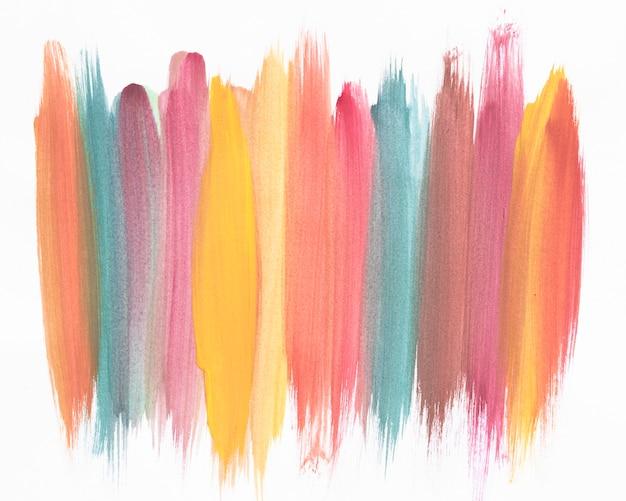 Kolorowe pionowe linie akwareli