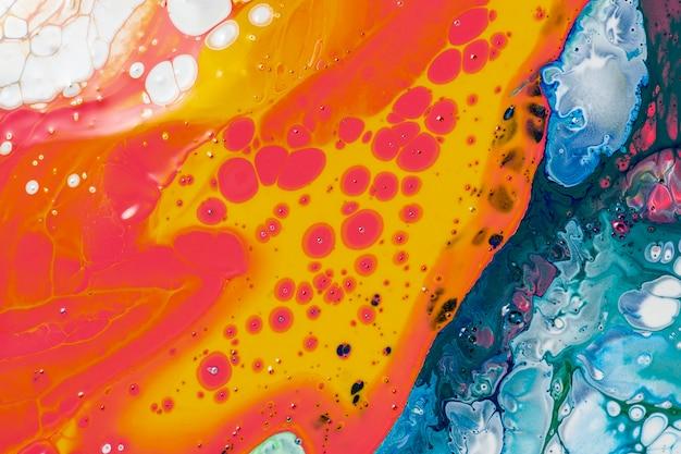 Kolorowe płynne marmurowe tło abstrakcyjna płynna tekstura sztuka eksperymentalna