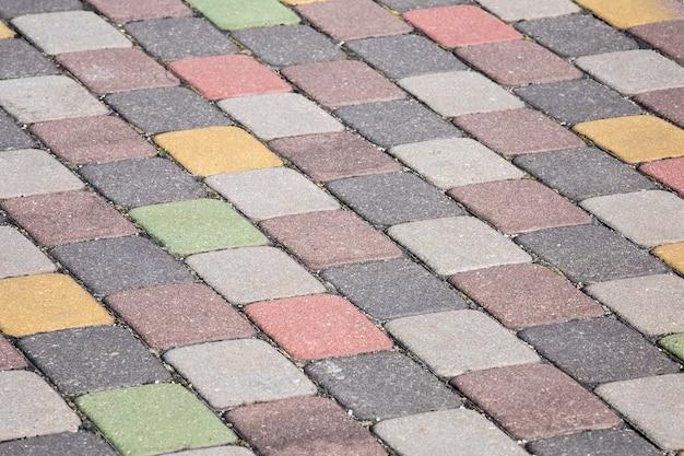 Kolorowe płyty chodnikowe