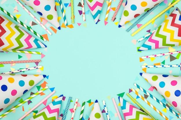Kolorowe ramki urodziny lub karnawał z elementami strony