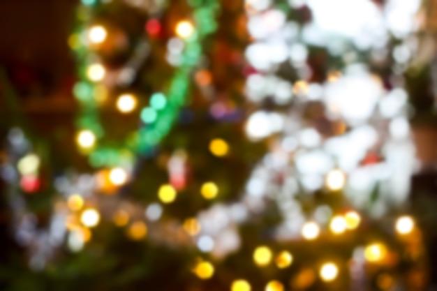 Kolorowe rozmycie bokeh światło nowy rok tło.