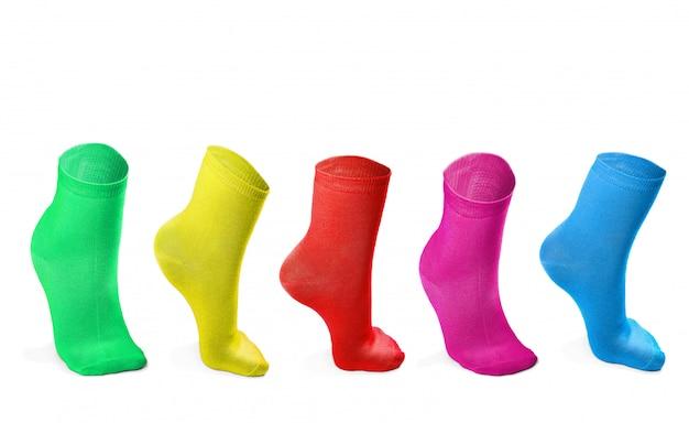 Kolorowe skarpetki imitujące stopnie
