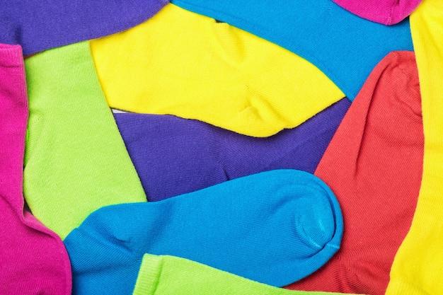 Kolorowe skarpetki tło