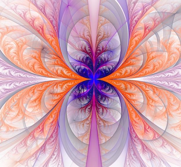 Kolorowe streszczenie okrągłe krzywe i linie na białym tle