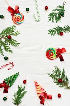 Kolorowe świąteczne cukierki wirujące