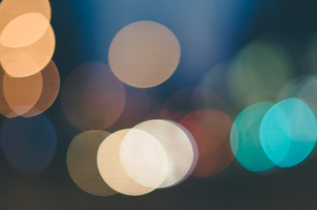 Kolorowe światła bokeh z efektem rozmycia