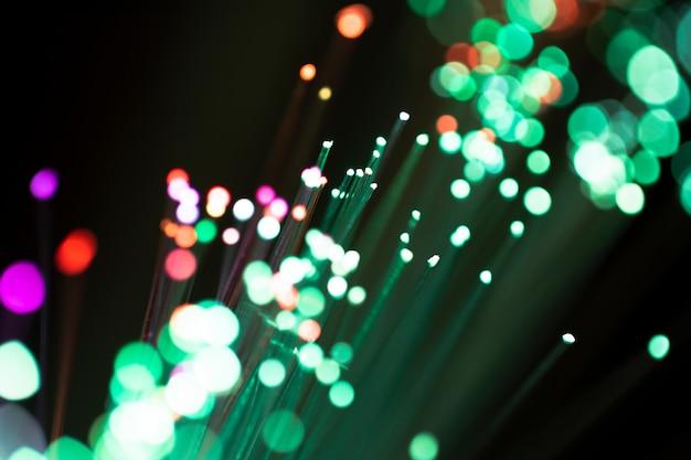 Kolorowe światła światłowodu
