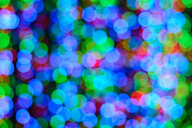 Kolorowe światła z efektem bokeh