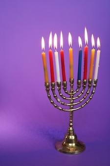 Kolorowe świece, chanuka