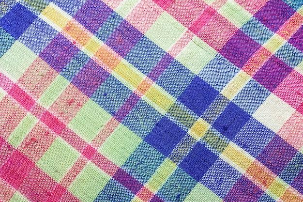 Kolorowe tajskie tło tkaniny przepaski na biodra