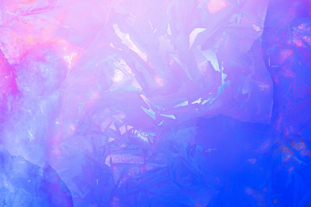 Kolorowe tekstury lodu. opalizujące kolory holograficzne
