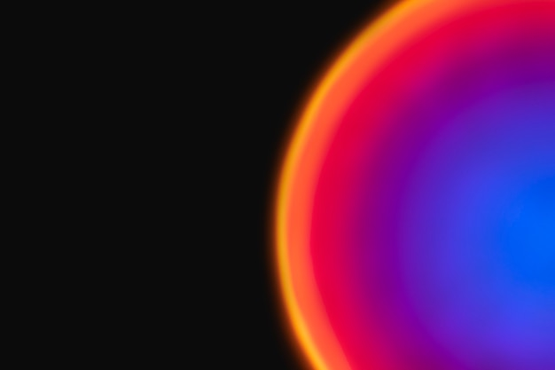 Kolorowe tło gradientowe z neonowym światłem led