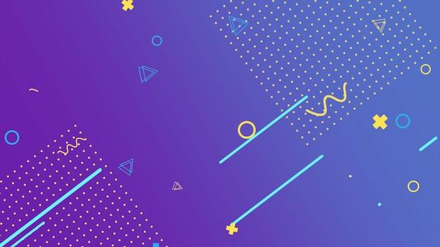 Kolorowe tło memphis, abstrakcyjne kształty geometryczne. elegancki i luksusowy dynamiczny styl dla szablonu biznesowego i korporacyjnego, ilustracja 3d