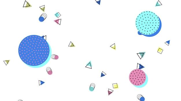 Kolorowe Tło Memphis, Abstrakcyjne Kształty Geometryczne. Elegancki I Luksusowy Dynamiczny Styl Dla Szablonu Biznesowego I Korporacyjnego, Ilustracja 3d Premium Zdjęcia