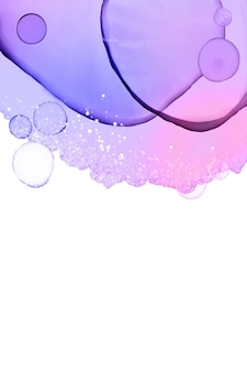 Kolorowe tło tuszem alkoholowym