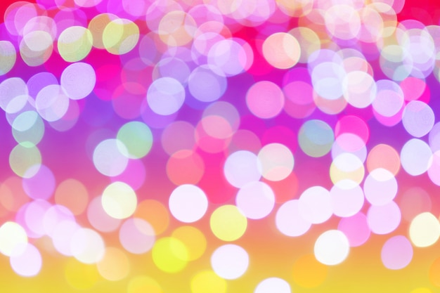 Kolorowe tło w postaci jasnych różnych bokeh, pastelowy kolor