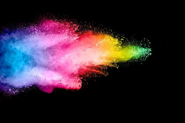 Kolorowe tło wybuchu proszku pastelowego