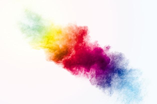 Kolorowe tło wybuchu proszku pastelowego.