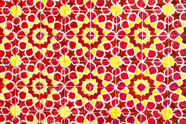 Kolorowe tradycyjne mozaiki uzbek