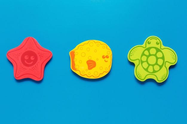 Kolorowe zabawki w kształcie morskich stworzeń