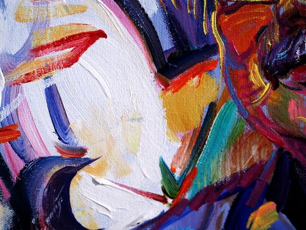 Kolorowego obrazu olejnego wielo- kolorów abstrakcjonistyczny tło i tekstura.