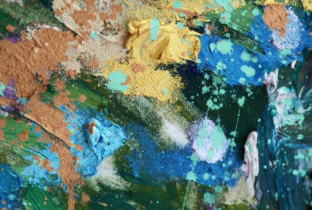 Kolorowy abstrakcyjny obraz olejny