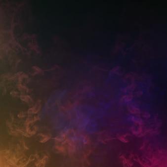 Kolorowy dym w ciemności. abstrakcyjne tło