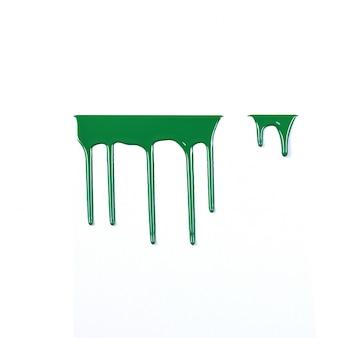 Kolorowy farby obcieknięcie odizolowywający na białym tle