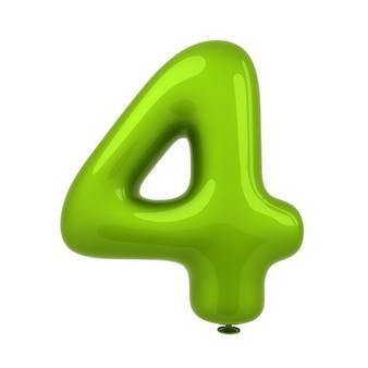 Kolorowy glansowany balon liczby 3d rendering