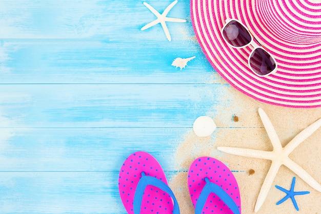 Kolorowy lato wakacje plaży tło