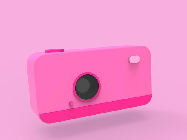 Kolorowy minimalny pastelowy aparat jako zabawka