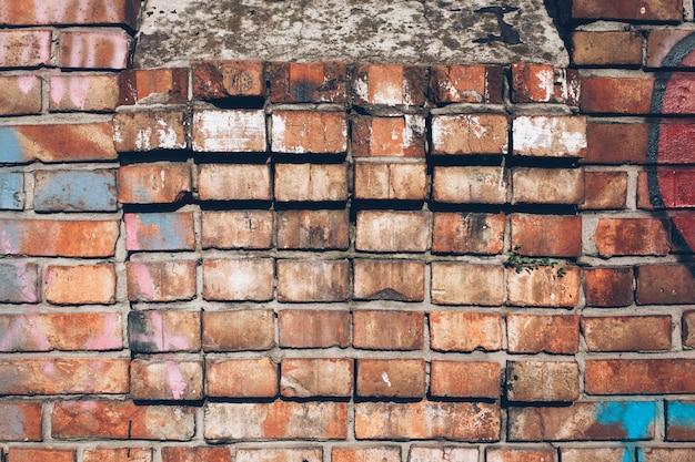 Kolorowy mur z cegły