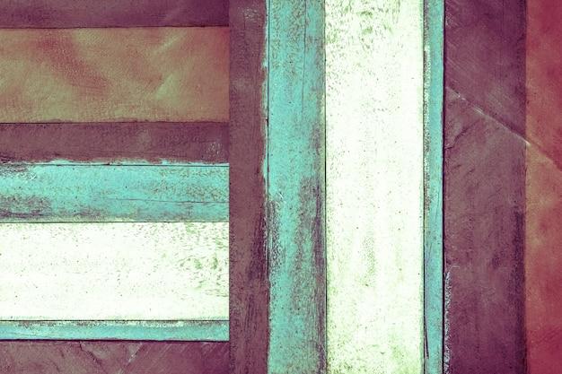 Kolorowy niebieski, fioletowy, zielony i brązowy styl vintage drewniany panel tekstura streszczenie tło