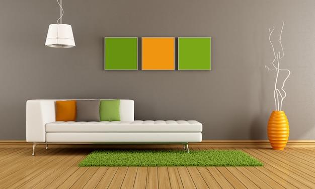 Kolorowy, nowoczesny salon
