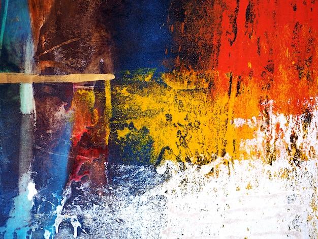 Kolorowy obraz olejny ręcznie rysować streszczenie tło.