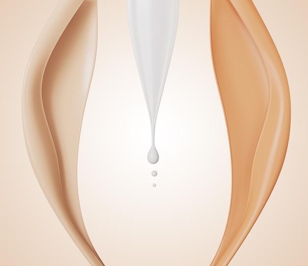 Kolorowy podkład kosmetyczny w płynie