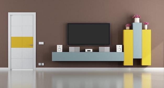 Kolorowy salon z telewizorem