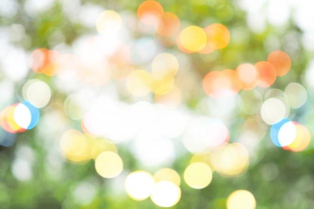 Kolorowy streszczenie zielony bokeh