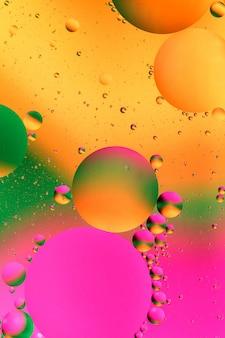 Kolorowy sztuczny tło z bąblami.