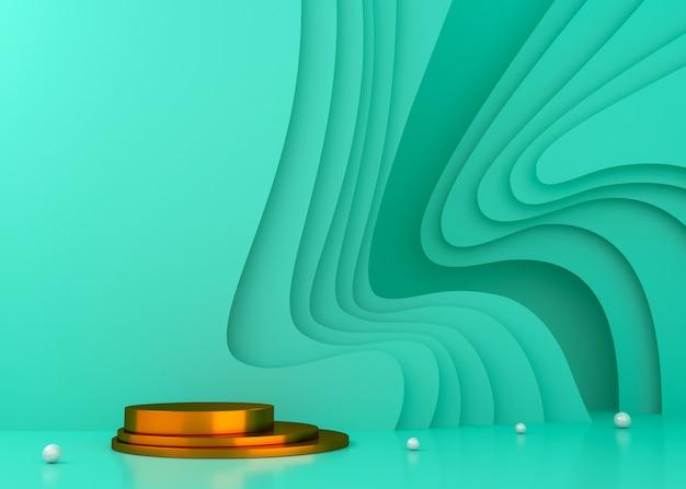 Kolorowy tunelowy pokazu tło dla produkt prezentaci, 3d renderingu ilustracja.
