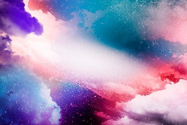Kolorowy wszechświat streszczenie teksturowanej tło