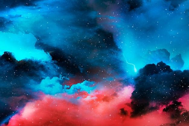 Kolorowy wszechświat streszczenie teksturowanej