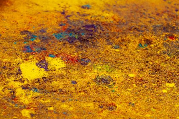 Kolorowy wykonany z indyjskich kolorowych barwników